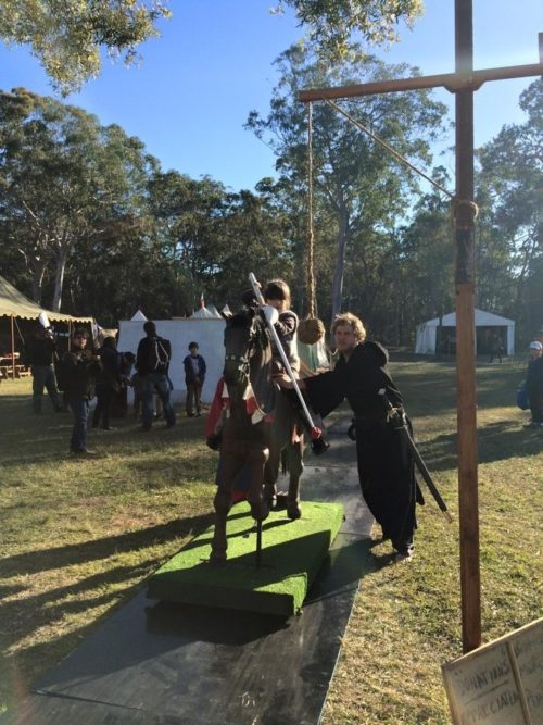 Abbey Medieval Festival Shield Maiden on Horse Renee Gusa Moreton Bay Region