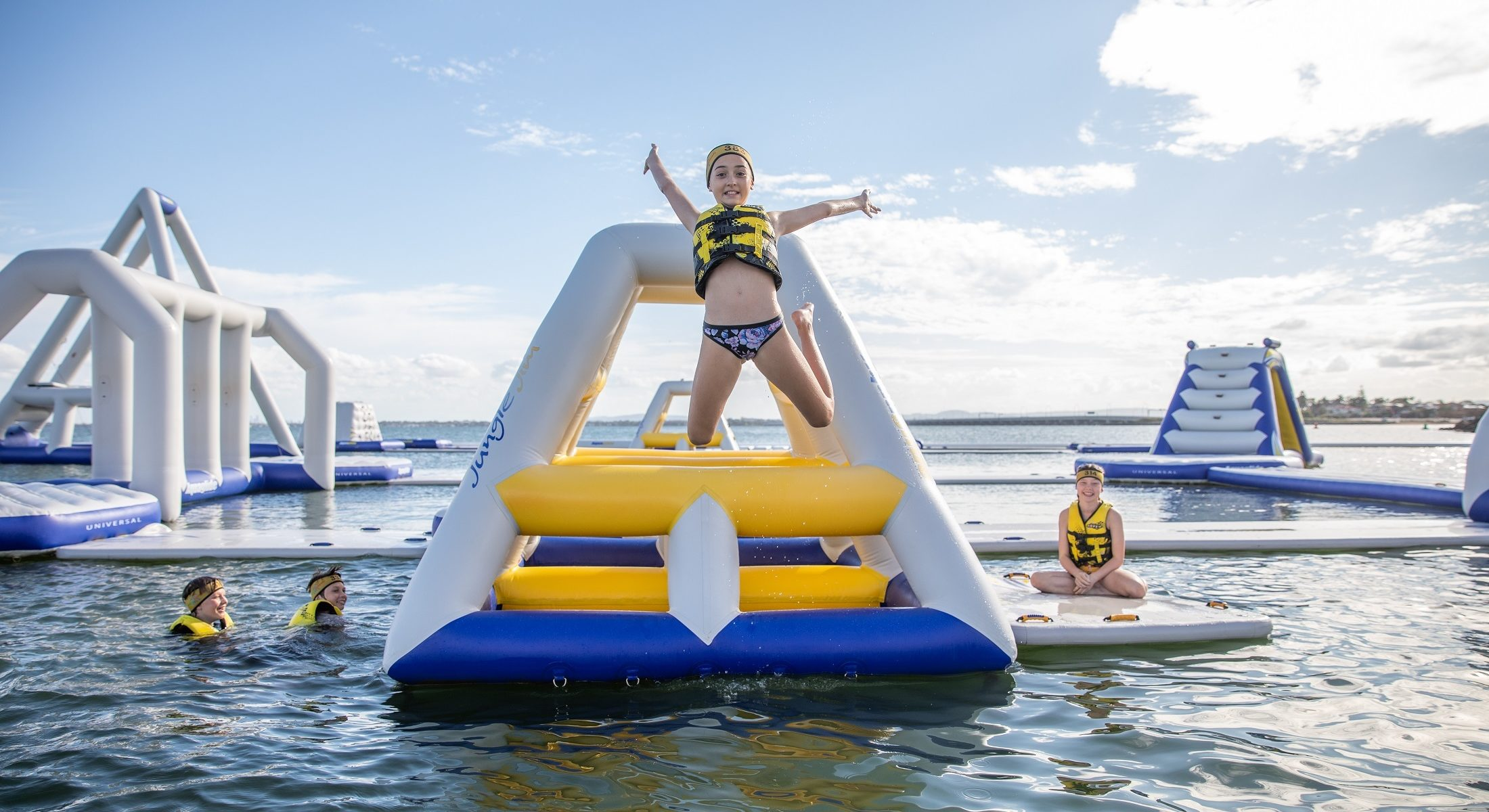 Aqua Splash Girl Jumping Redcliffe Moreton Bay Region Brisbane