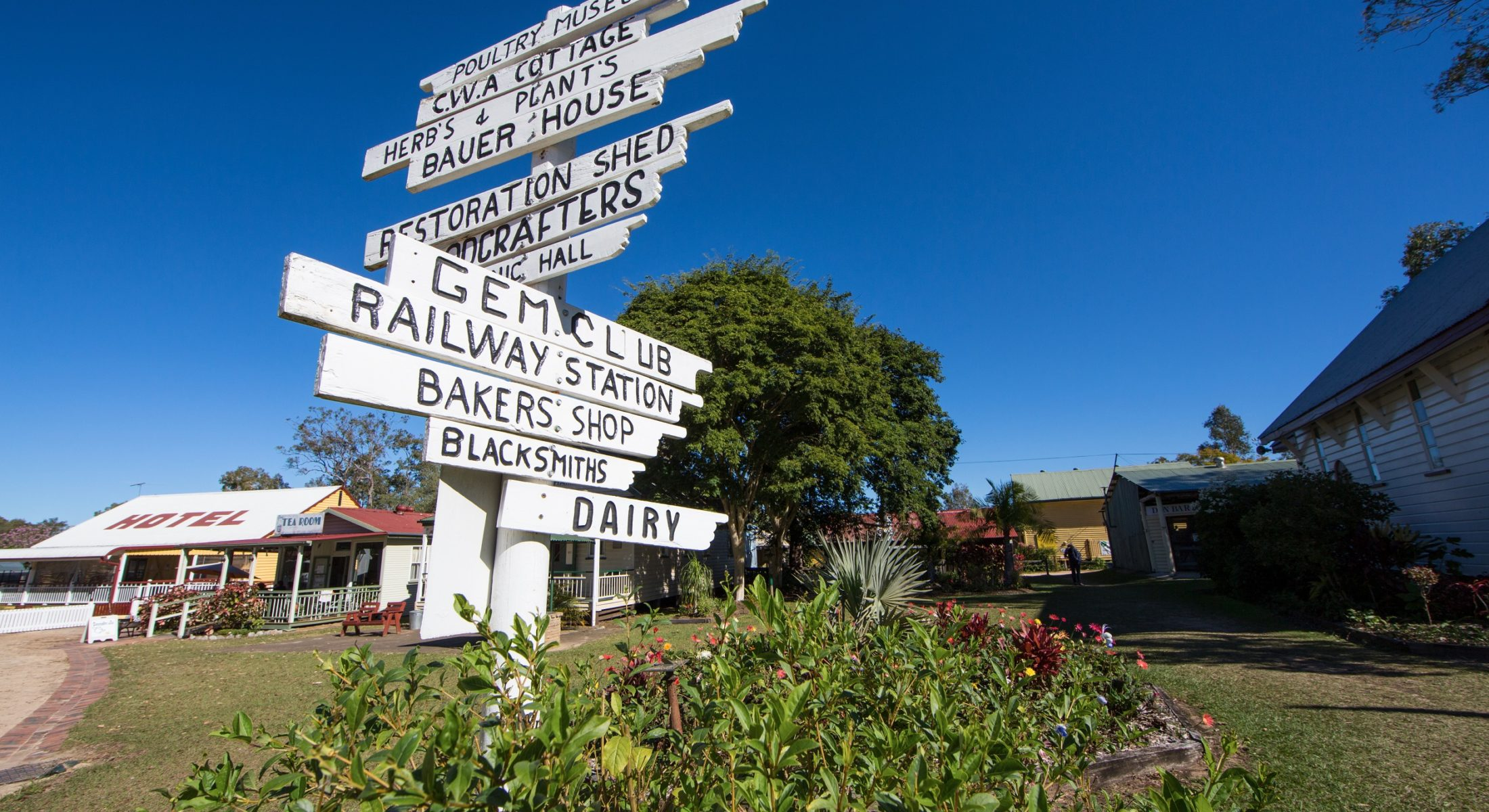 Caboolture Historical Village Direction Signage Moreton Bay Region
