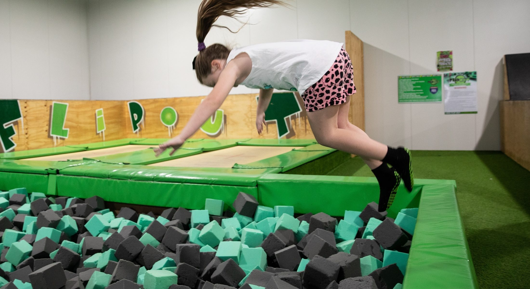 Flip Out Strathpine Foam Trampoline Park Moreton Bay Region