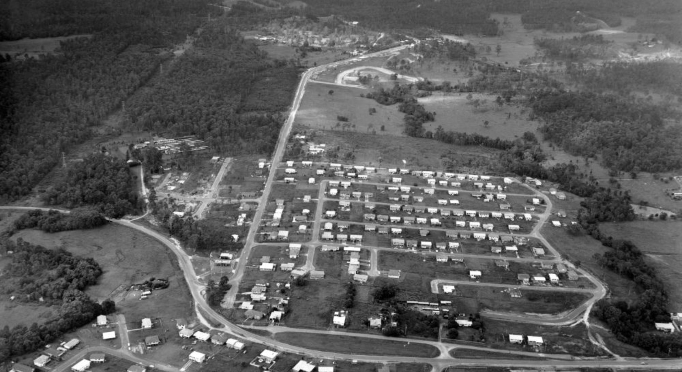 Aerial Photo Albany Creek Albany Creek Road Keong Road 1971
