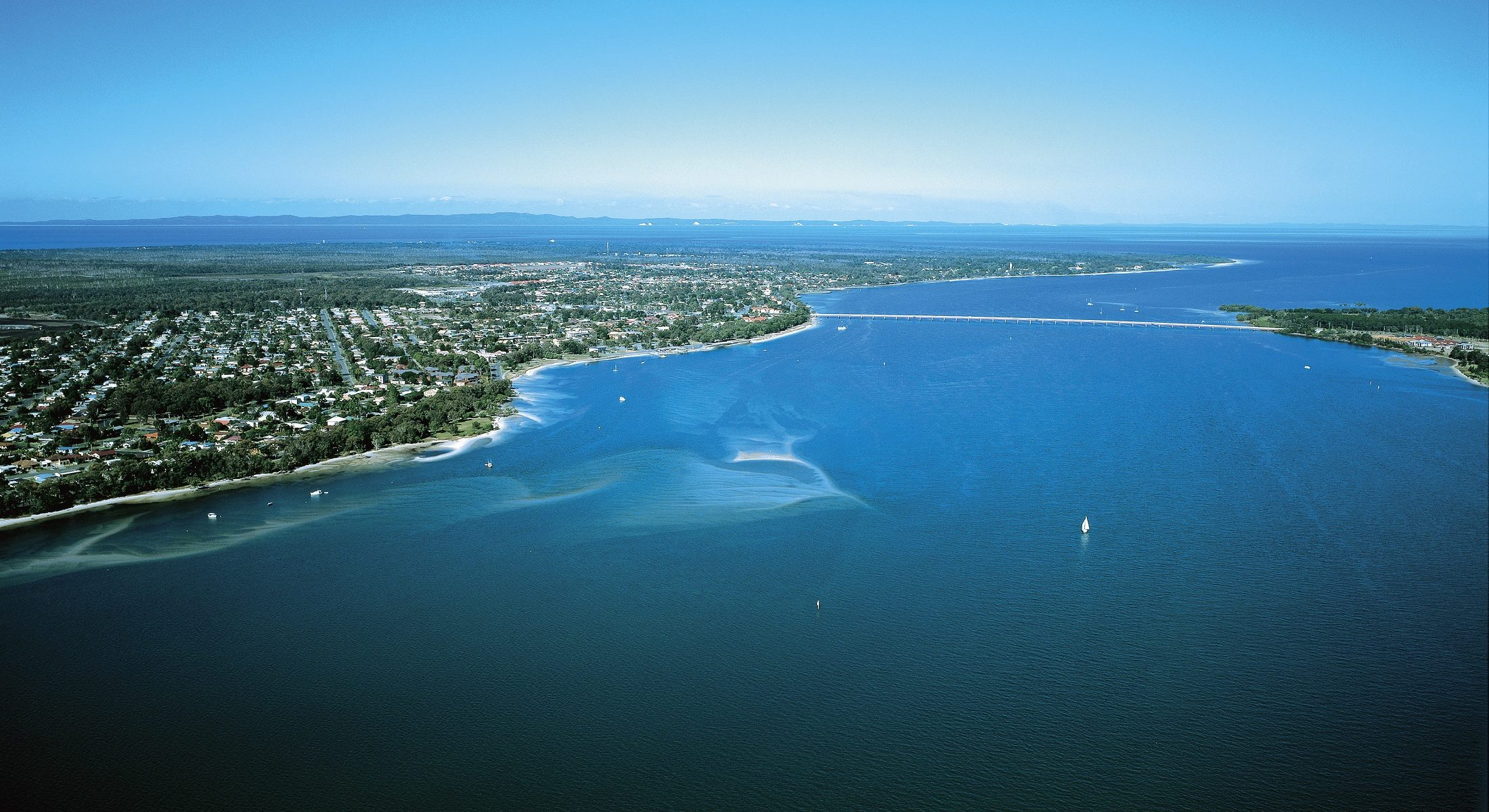 Pumicestone Passage Bribie Island Aerial Tourism And Events Queensland