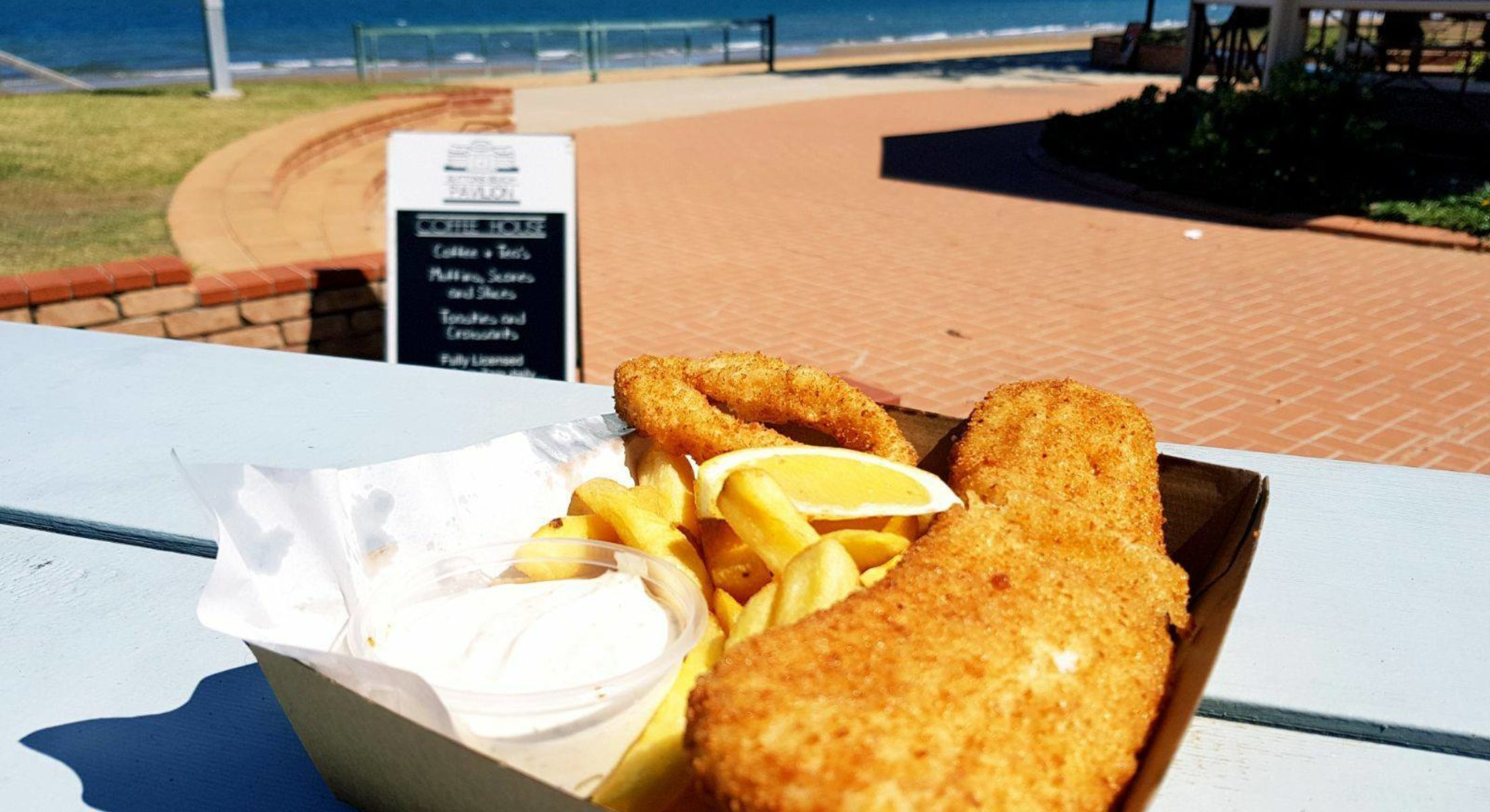 Suttons Beach Pavilion Fish Chips Moreton Bay Region