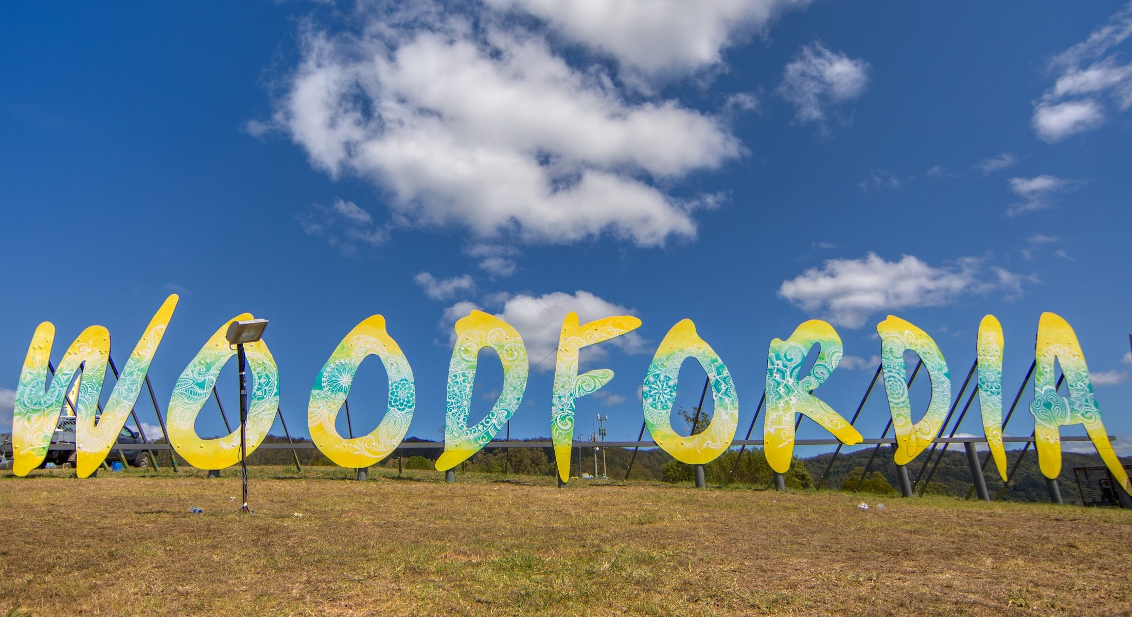 Woodford Folk Festival Music Event Woodfordia Sign Moreton Bay Region